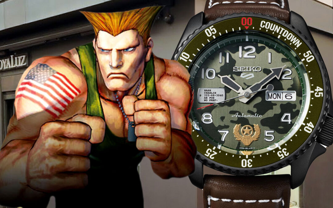 No dejes escapar la edición limitada del SEIKO GUILE STREET FIGHTER